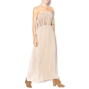 T Party Boho strapless Maxi Dress size Large